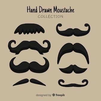 Coleção de bigode original mão desenhada
