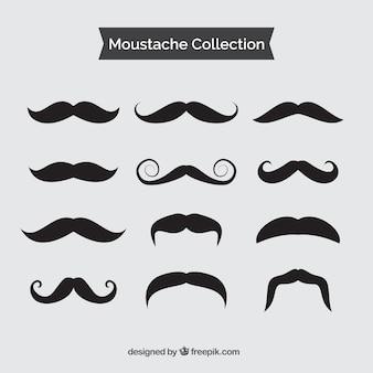 Coleção de bigode preto do vintage