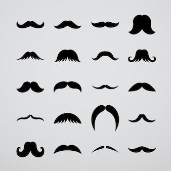 Coleção de bigode preto