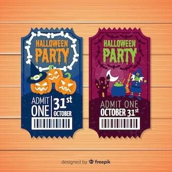 Coleção de bilhetes de festa de halloween
