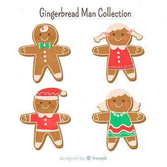 Coleção de biscoito de homem de gengibre