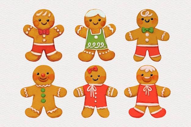 Coleção de biscoitos de aquarela