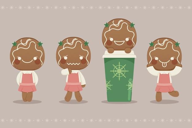 Coleção de biscoitos de gengibre