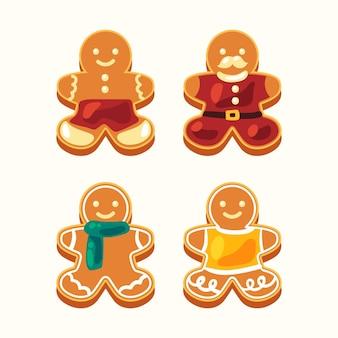 Coleção de biscoitos de homem-biscoito liso