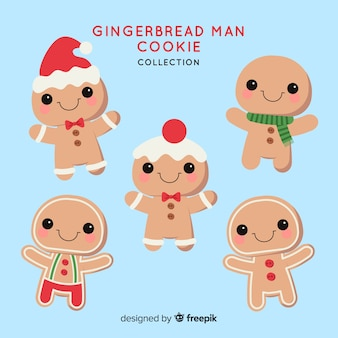 Coleção de biscoitos de homem-biscoito