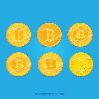 Coleção de bitcoins