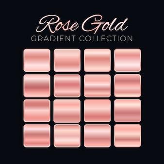Coleção de blocos de gradiente de ouro rosa