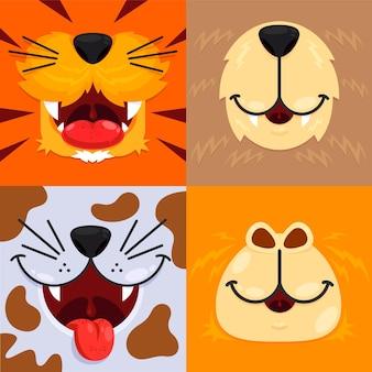 Coleção de boca de animais para crianças