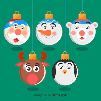 Coleção de bolas de natal