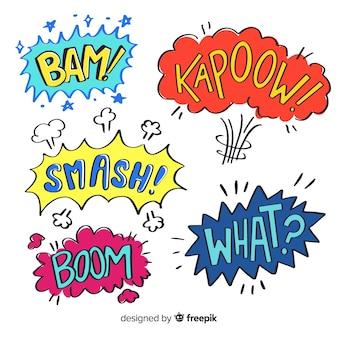 Coleção de bolha do discurso em quadrinhos coloridos
