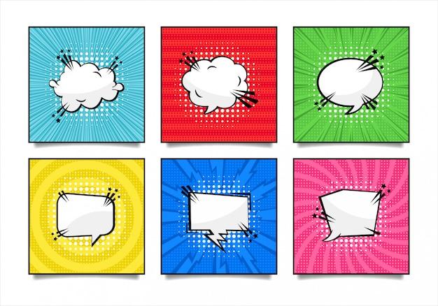 Coleção de bolha do discurso em quadrinhos pop art
