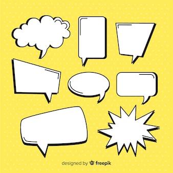 Coleção de bolha do discurso em quadrinhos vazio