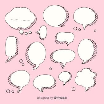 Coleção de bolha do discurso em quadrinhos