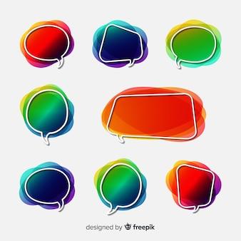 Coleção de bolha do discurso gradiente vazio