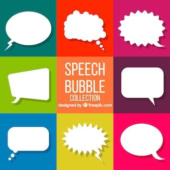 Coleção de bolhas de fala