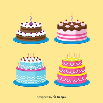 Coleção de bolo de aniversário