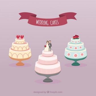 Coleção de bolos de casamento