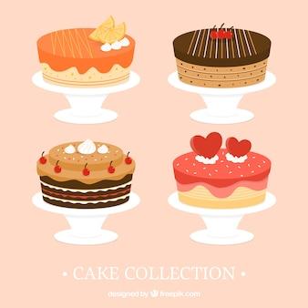 Coleção de bolos deliciosos