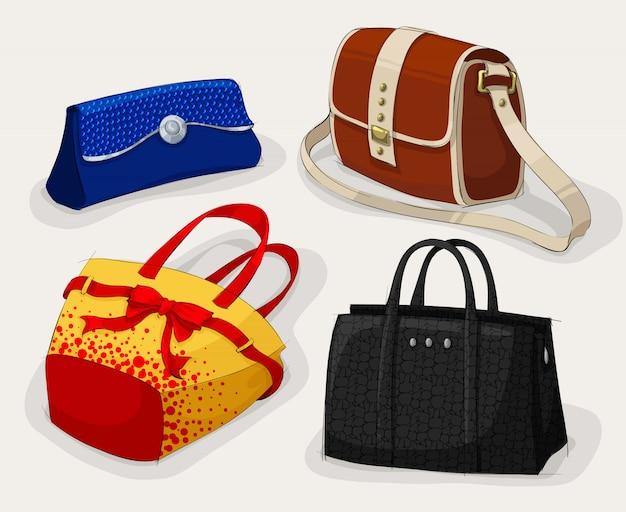 Coleção de bolsas de mulher clássica