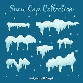 Coleção de boné de neve plana