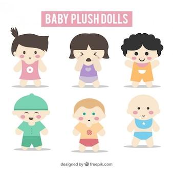 Coleção de boneca bebê agradável