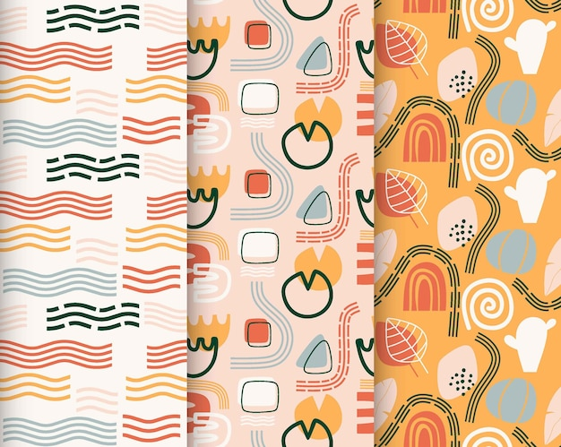 Coleção de bonitos padrões sem emenda.