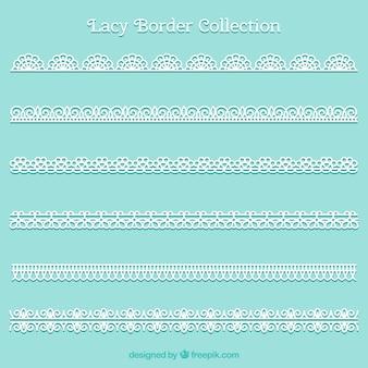 Coleção de borda decorativa de renda