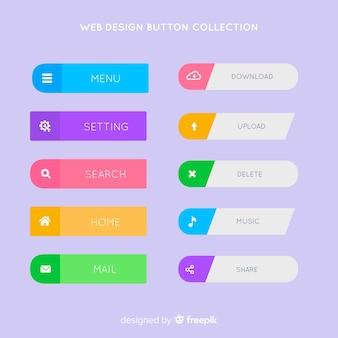 Coleção de botão de design da web