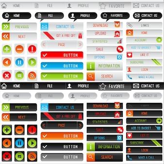 Coleção de botões web limpas para o seu site