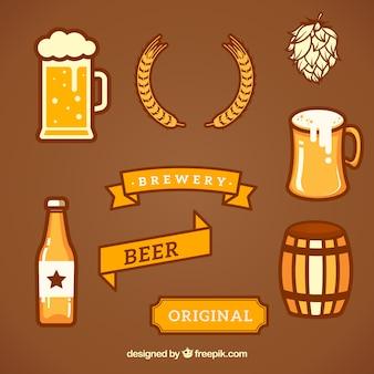 Coleção de brewery design elements