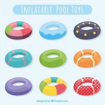Coleção de brinquedos piscina inflável