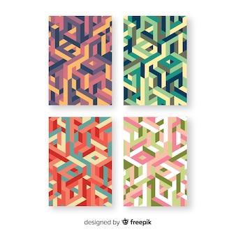 Coleção de brochura de estilo isométrico