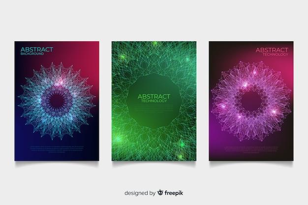 Coleção de brochura de estilo tecnológico