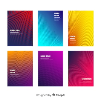 Coleção de brochura de linhas de gradiente