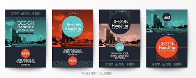 Coleção de brochura de panfleto de cartaz