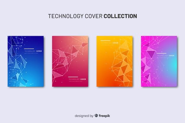Coleção de brochura de tecnologia colorida