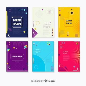 Coleção de brochuras de estilo de memphis