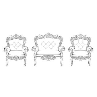 Coleção de cadeiras de luxo