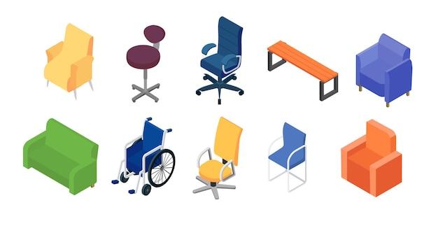 Coleção de cadeiras e poltronas para móveis