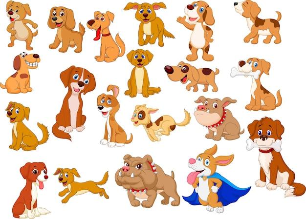 Coleção de cães dos desenhos animados