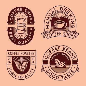Coleção de café de logotipo