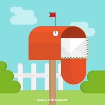 Coleção de caixas de correio do vintage no design plano