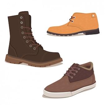 Coleção de calçados elegantes