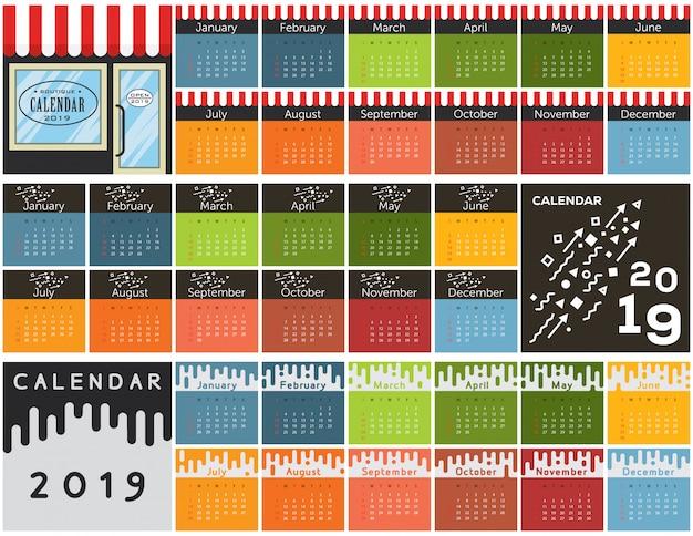 Coleção de calendário 2019