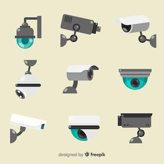 Coleção de câmeras de segurança