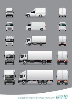 Coleção de caminhão de entrega de carga