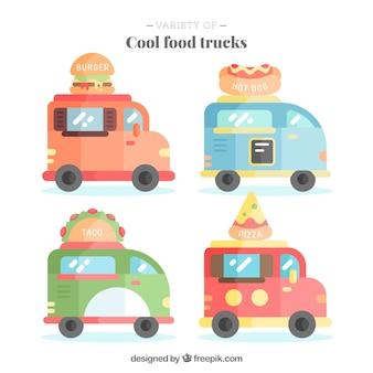 Coleção de caminhões de comida legal