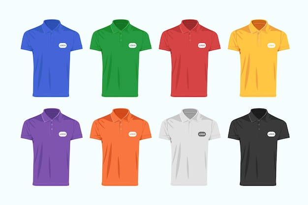Coleção de camisa polo colorida