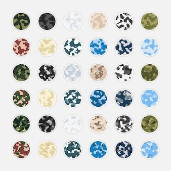 Coleção de camuflagem resumo capa história instagram