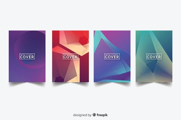Coleção de capa abstrata colorida